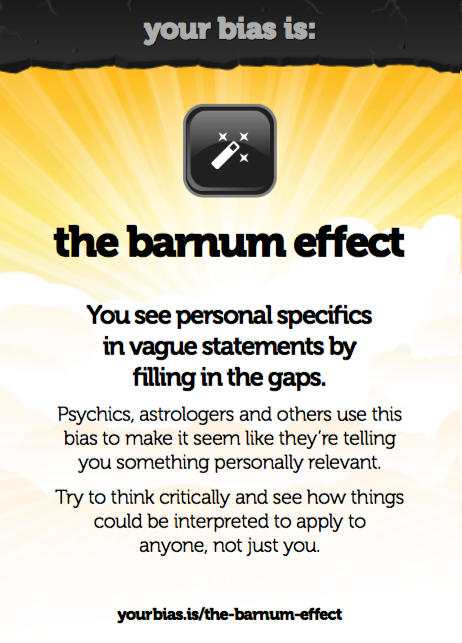 Random Cognitive Bias
