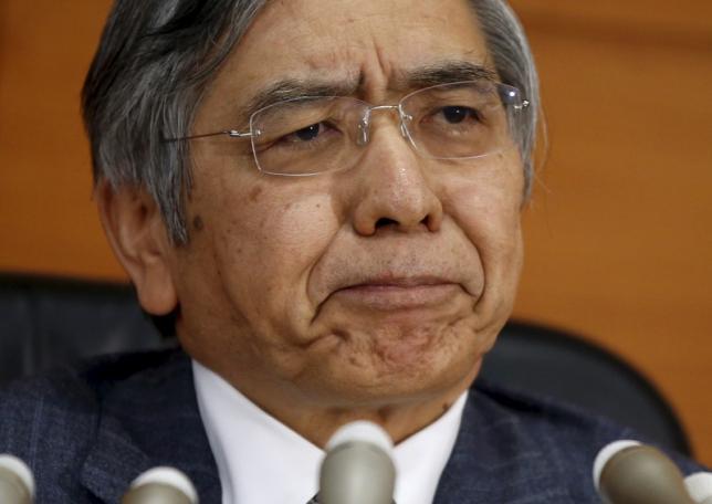 Bank of Japan (BOJ) Governor Haruhiko Kuroda attends a news conference at the BOJ headquarters in Tokyo, Japan, December 18, 2015. REUTERS/Toru Hanai