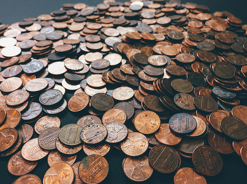 Banking Coins Money Currency Cash Pennies Finance